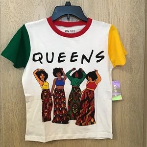 On Fire Tee | QUEENS | Size Small | NWT